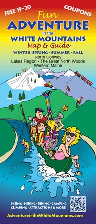 Cover to the Adventure in the White Mountains map and guide